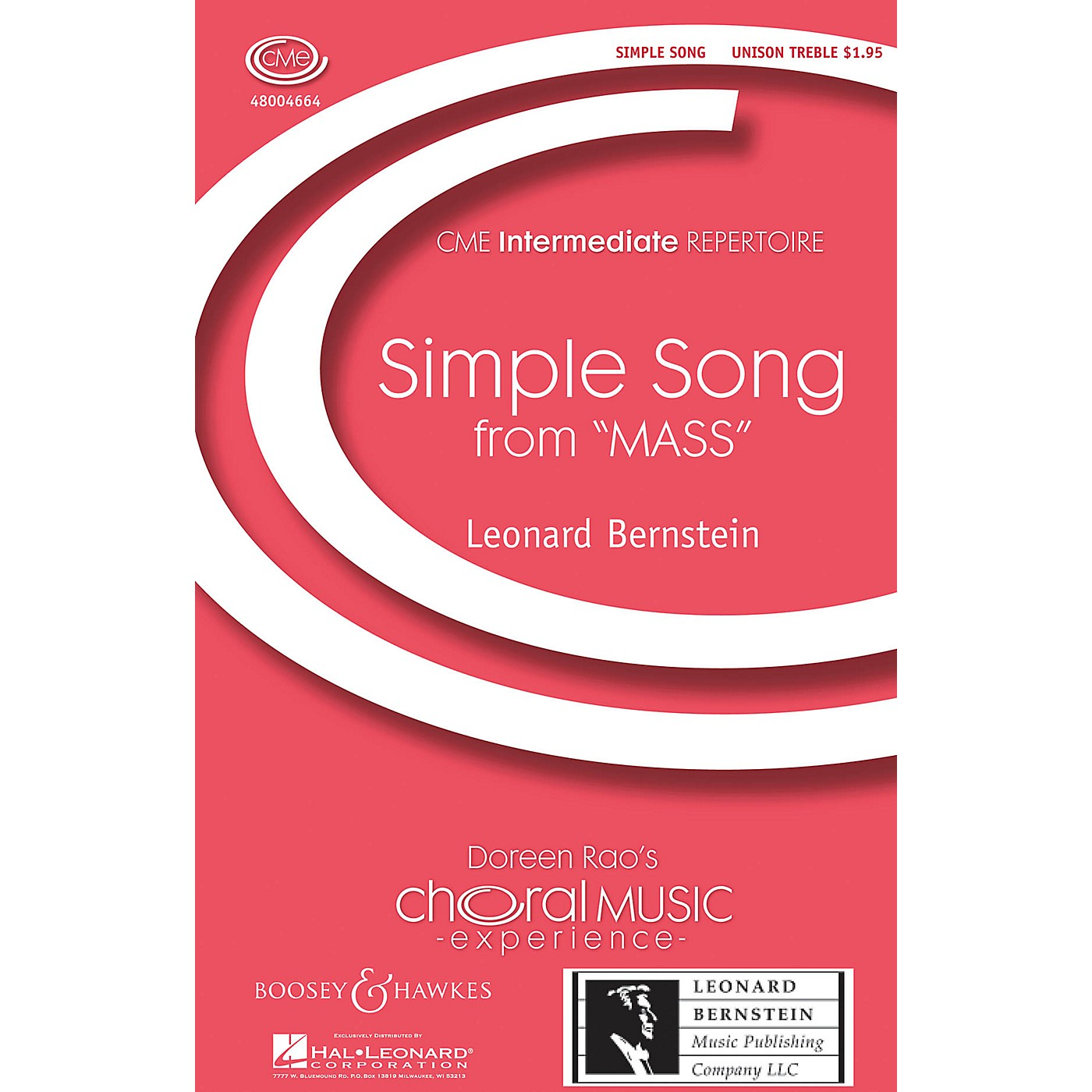 Boosey and Hawkes Simple Song (from Mass) CME Intermediate UNIS composed by Leonard Bernstein thumbnail