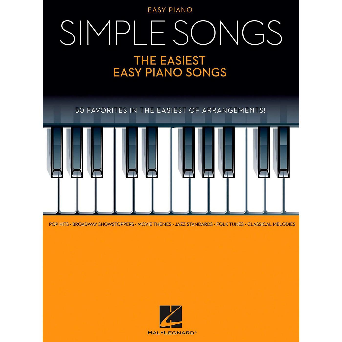 Hal Leonard Simple Songs - The Easiest Easy Piano Songs thumbnail