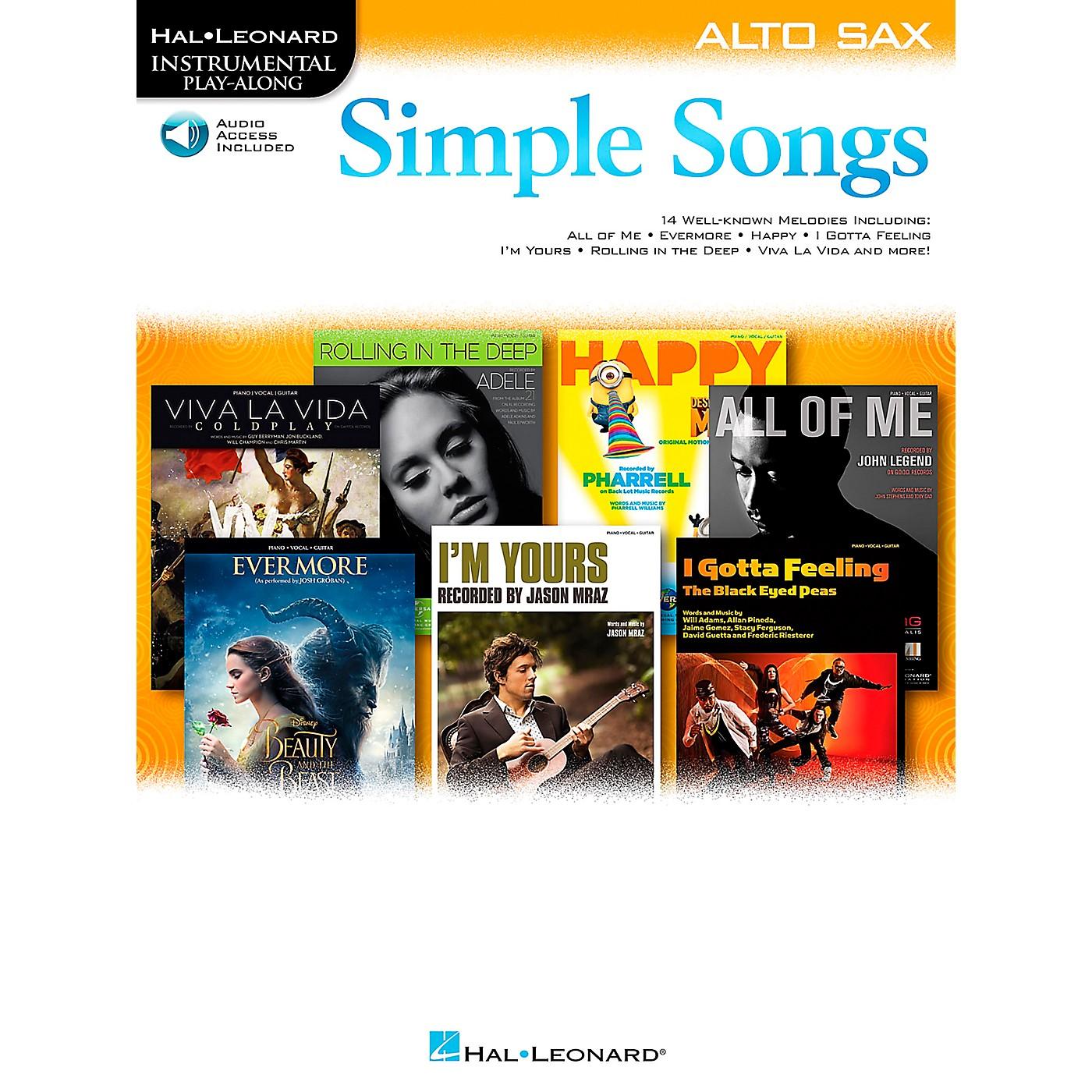 Hal Leonard Simple Songs (Alto Sax) Alto Sax thumbnail