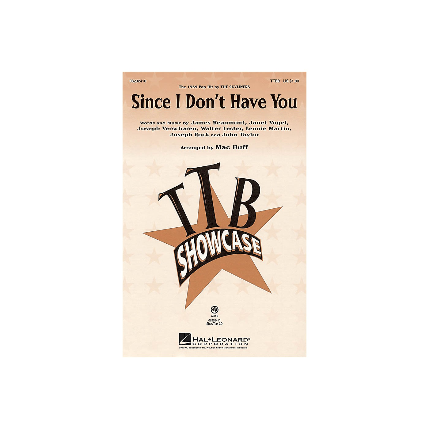 Hal Leonard Since I Don't Have You TTBB by The Skyliners arranged by Mac Huff thumbnail