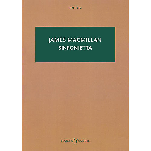 Boosey and Hawkes Sinfonietta Boosey & Hawkes Scores/Books Series Softcover Composed by James MacMillan thumbnail