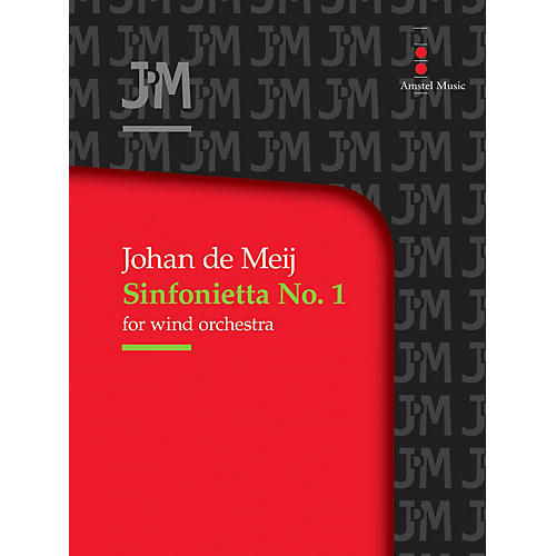 Amstel Music Sinfonietta No. 1 for Wind Orchestra (Score Only) Concert Band Level 3-5 Composed by Johan de Meij thumbnail