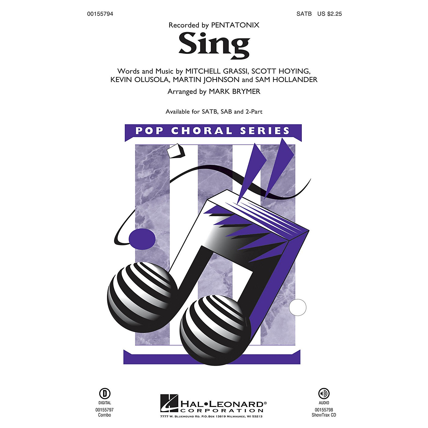 Hal Leonard Sing 2-Part by Pentatonix Arranged by Mark Brymer thumbnail