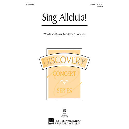 Hal Leonard Sing Alleluia! (Discovery Level 1) VoiceTrax CD Composed by Victor C. Johnson thumbnail