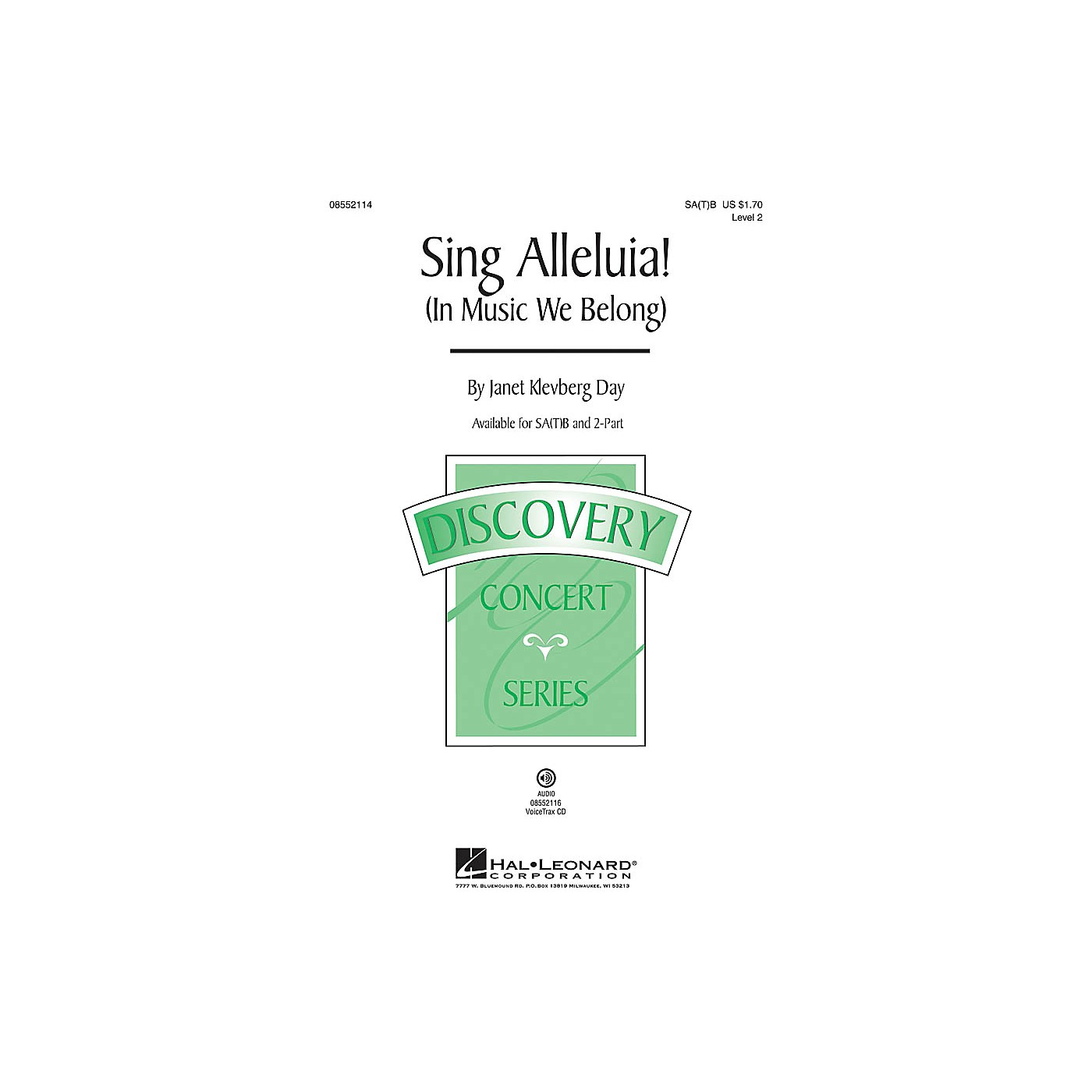 Hal Leonard Sing Alleluia! (In Music We Belong) (Discovery Level 2) 2-Part Composed by Janet Klevberg Day thumbnail