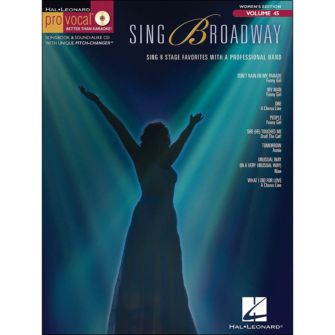 Hal Leonard Sing Broadway - Pro Vocal Songbook & CD for Female Singers Volume 45 thumbnail