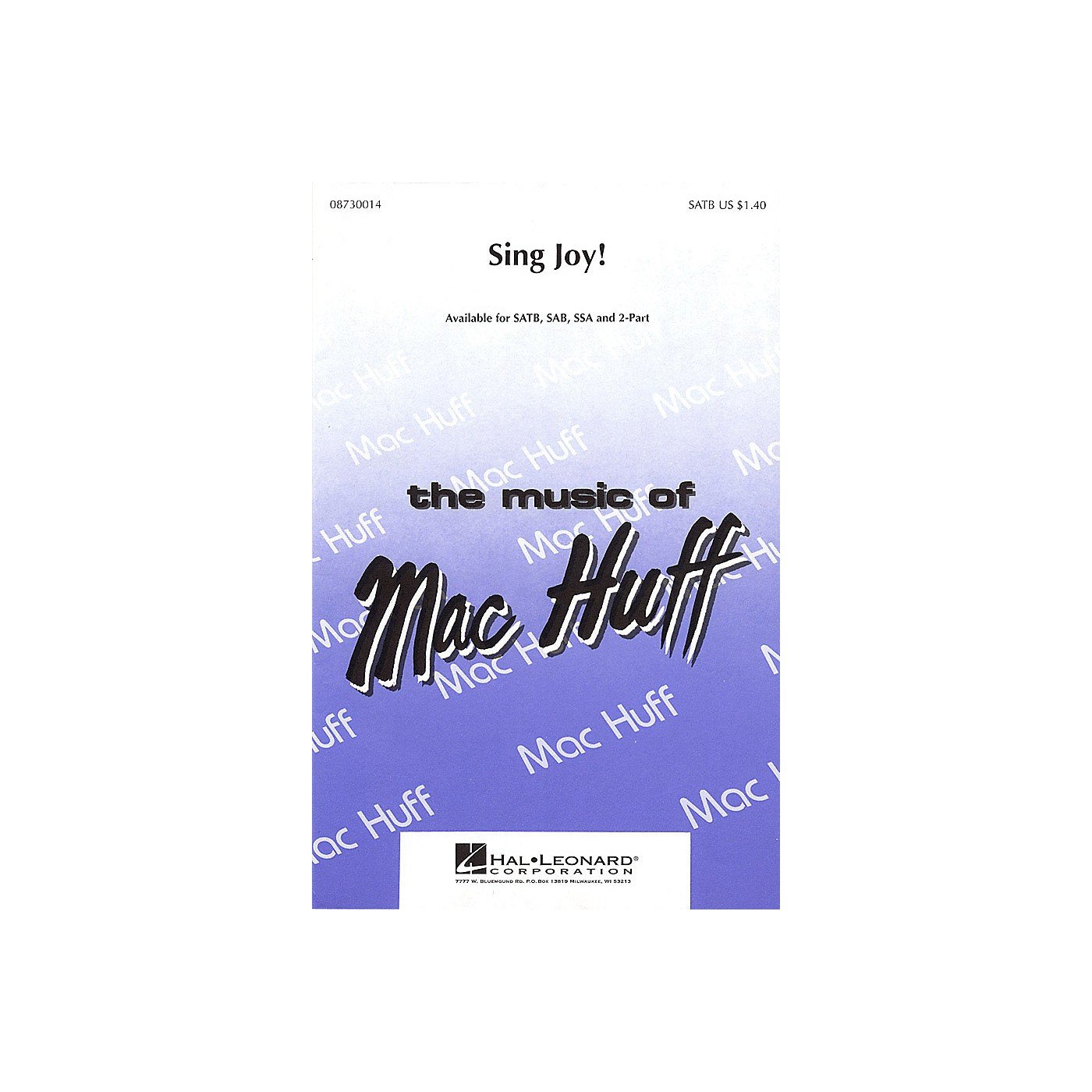 Hal Leonard Sing Joy! SAB thumbnail