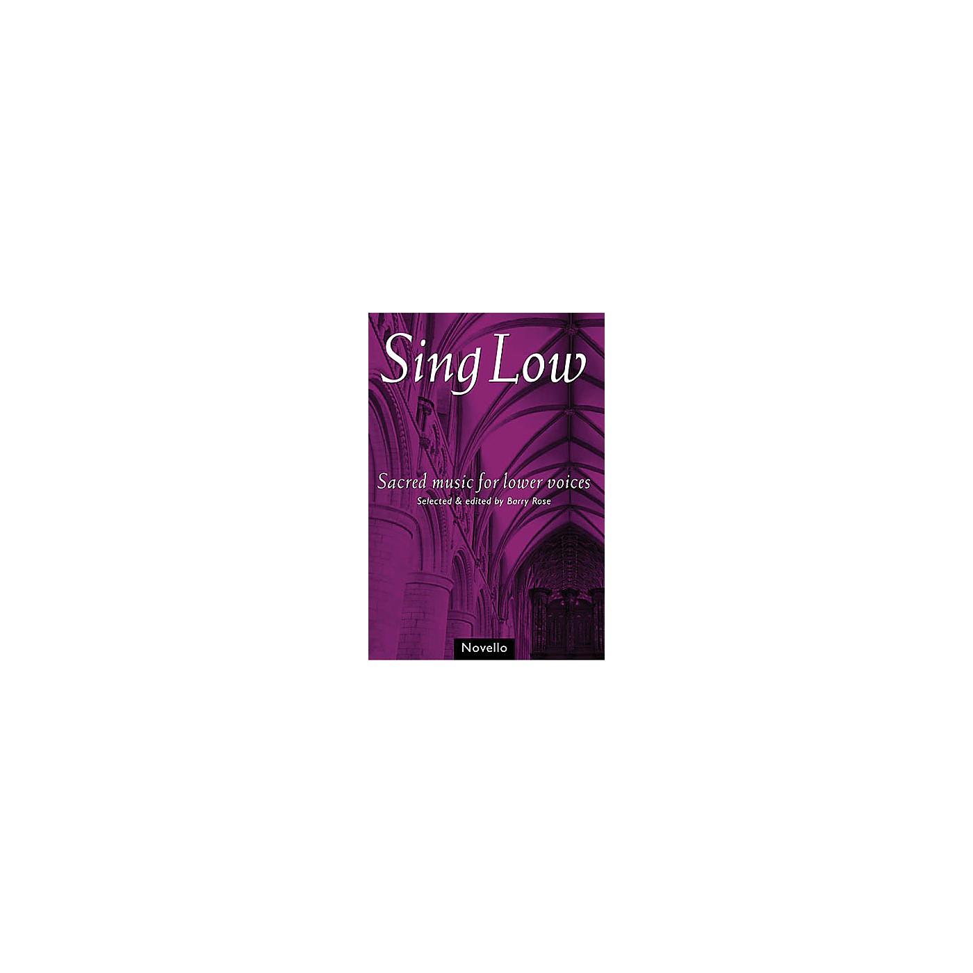 Novello Sing Low (Sacred Music for Lower Voices) TTBB thumbnail