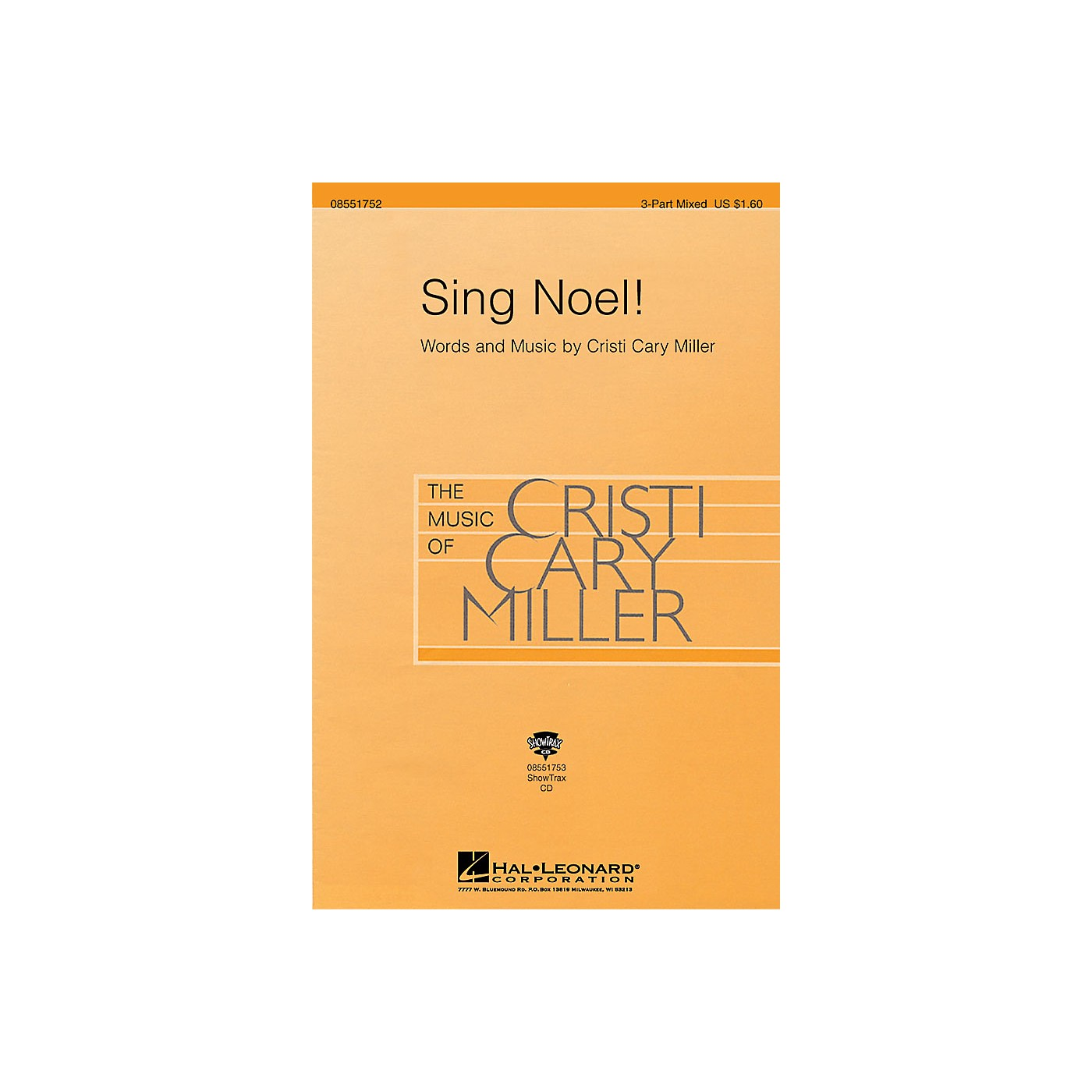 Hal Leonard Sing Noel! 3-Part Mixed composed by Cristi Cary Miller thumbnail