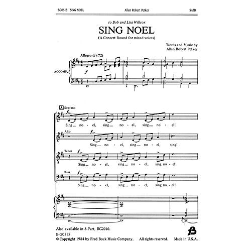 Fred Bock Music Sing Noel SATB composed by Allan Robert Petker thumbnail