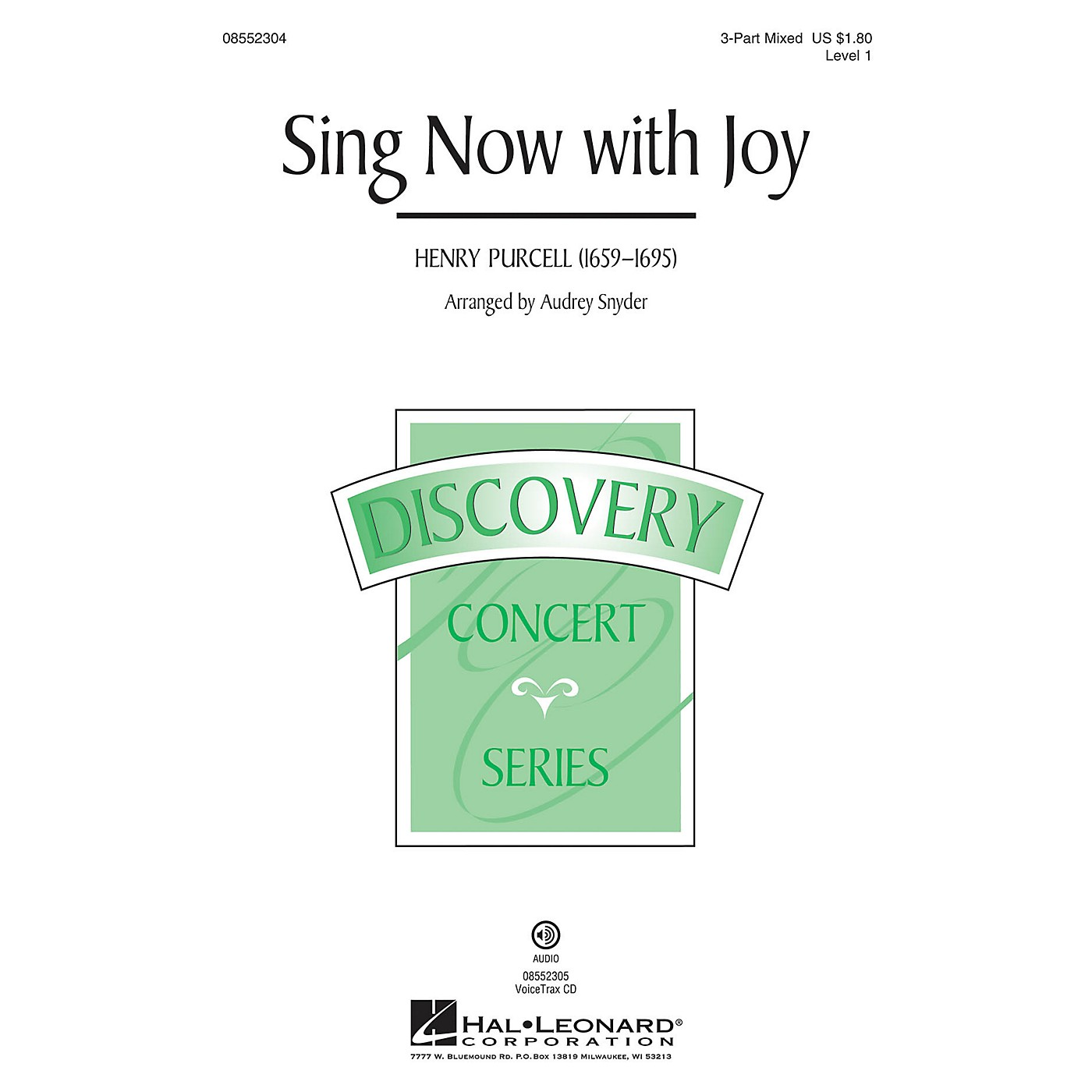 Hal Leonard Sing Now with Joy (Discovery Level 1) 3-Part Mixed arranged by Audrey Snyder thumbnail