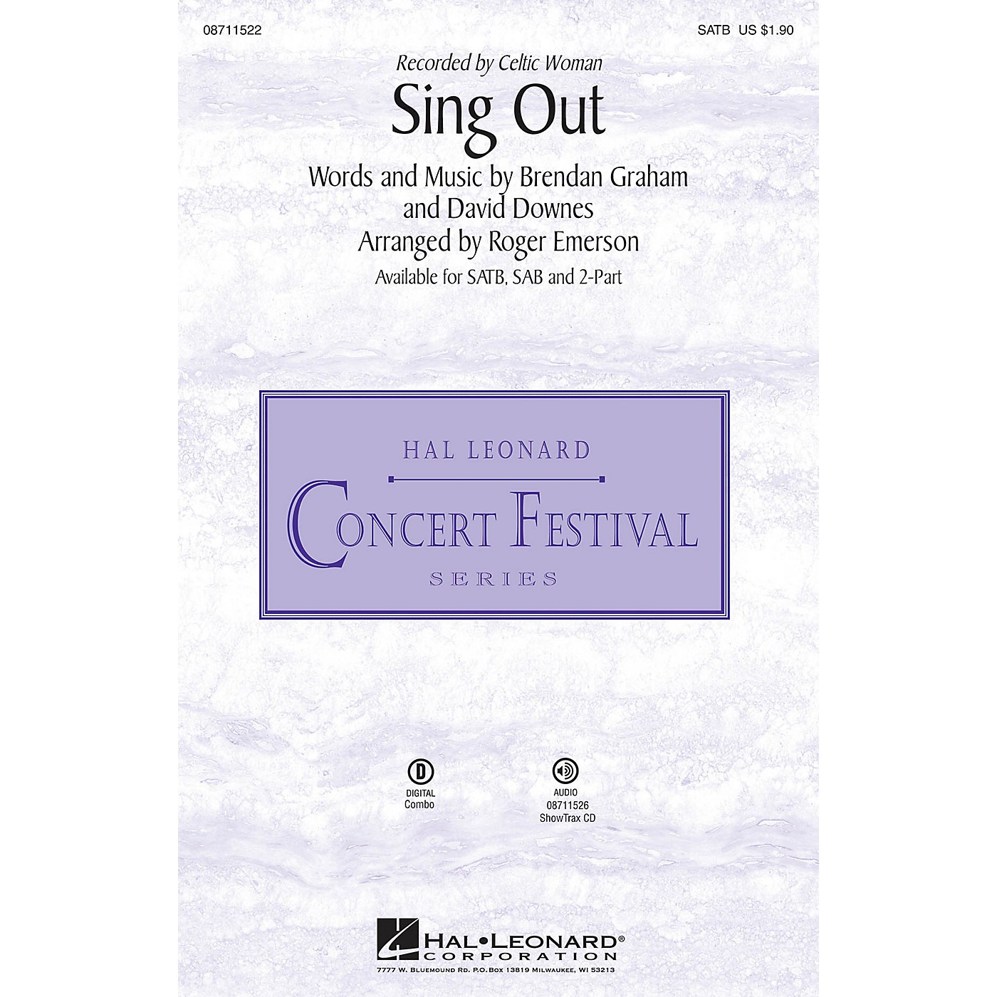 Hal Leonard Sing Out 2-Part by Celtic Woman Arranged by Roger Emerson thumbnail