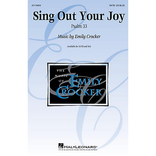 Hal Leonard Sing Out Your Joy SATB composed by Emily Crocker thumbnail