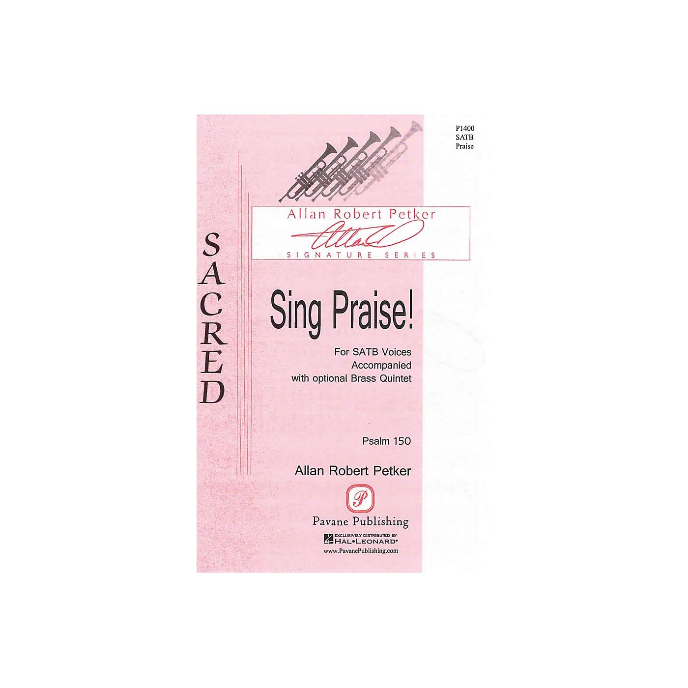 Pavane Sing Praise! SATB composed by Allan Robert Petker thumbnail