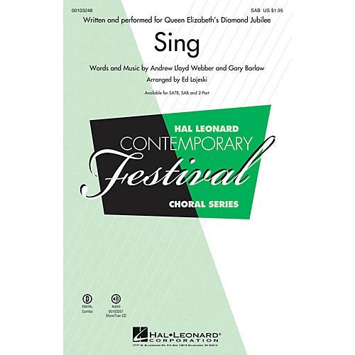 Hal Leonard Sing (Queen Elizabeth's Diamond Jubilee SAB) SAB arranged by Ed Lojeski thumbnail