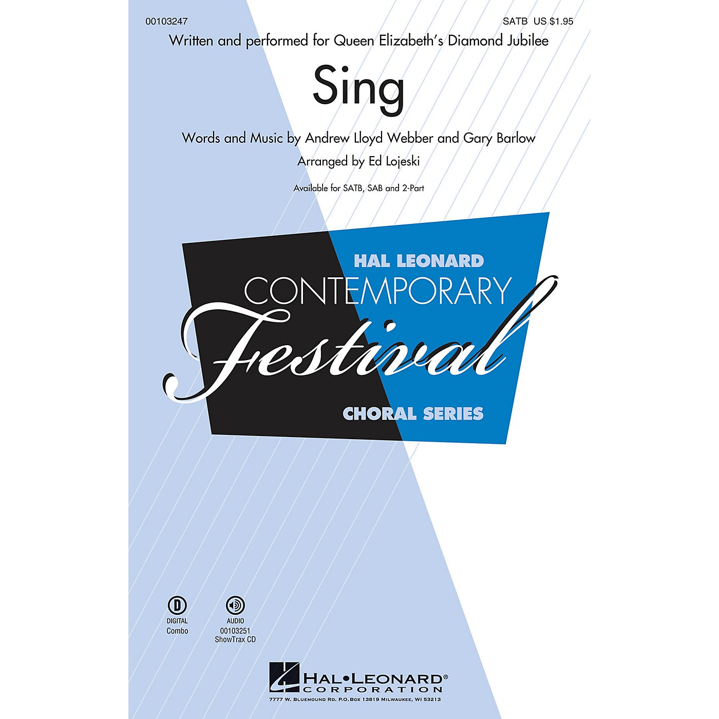 Hal Leonard Sing (Queen Elizabeth's Diamond Jubilee  SATB) SATB arranged by Ed Lojeski thumbnail