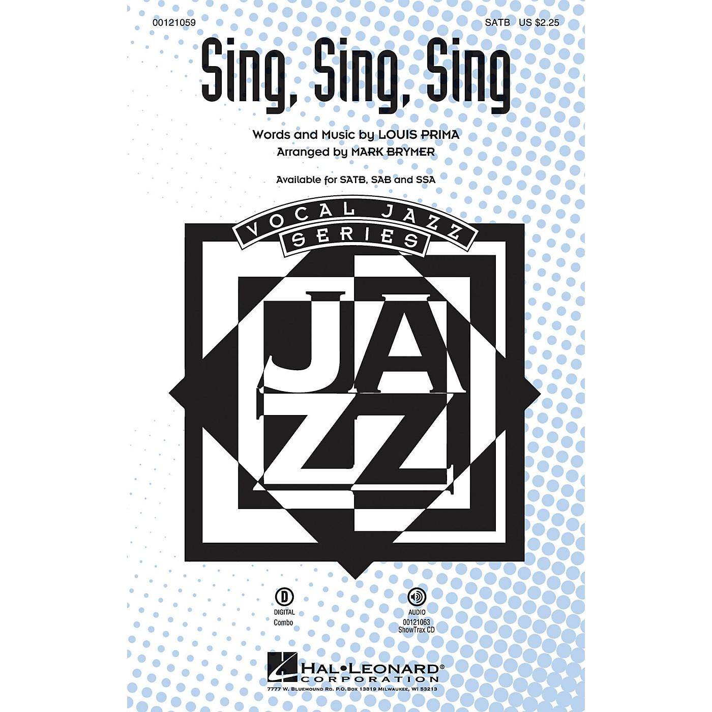Hal Leonard Sing, Sing, Sing SSA Arranged by Mark Brymer thumbnail