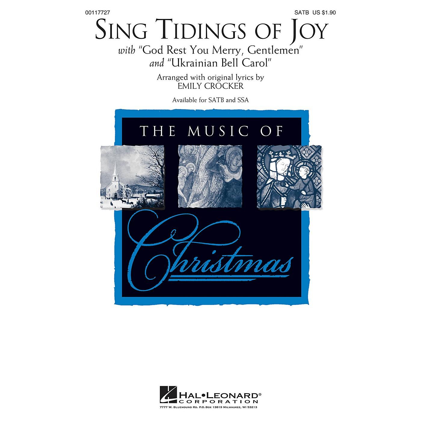 Hal Leonard Sing Tidings of Joy SATB arranged by Emily Crocker thumbnail