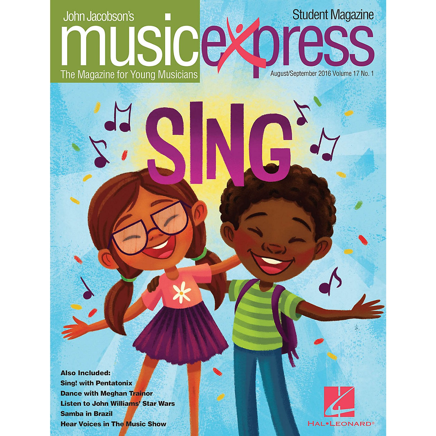 Hal Leonard Sing! Vol. 17 No. 1 (August/September 2016) Student 10Pk by Pentatonix Arranged by Emily Crocker thumbnail