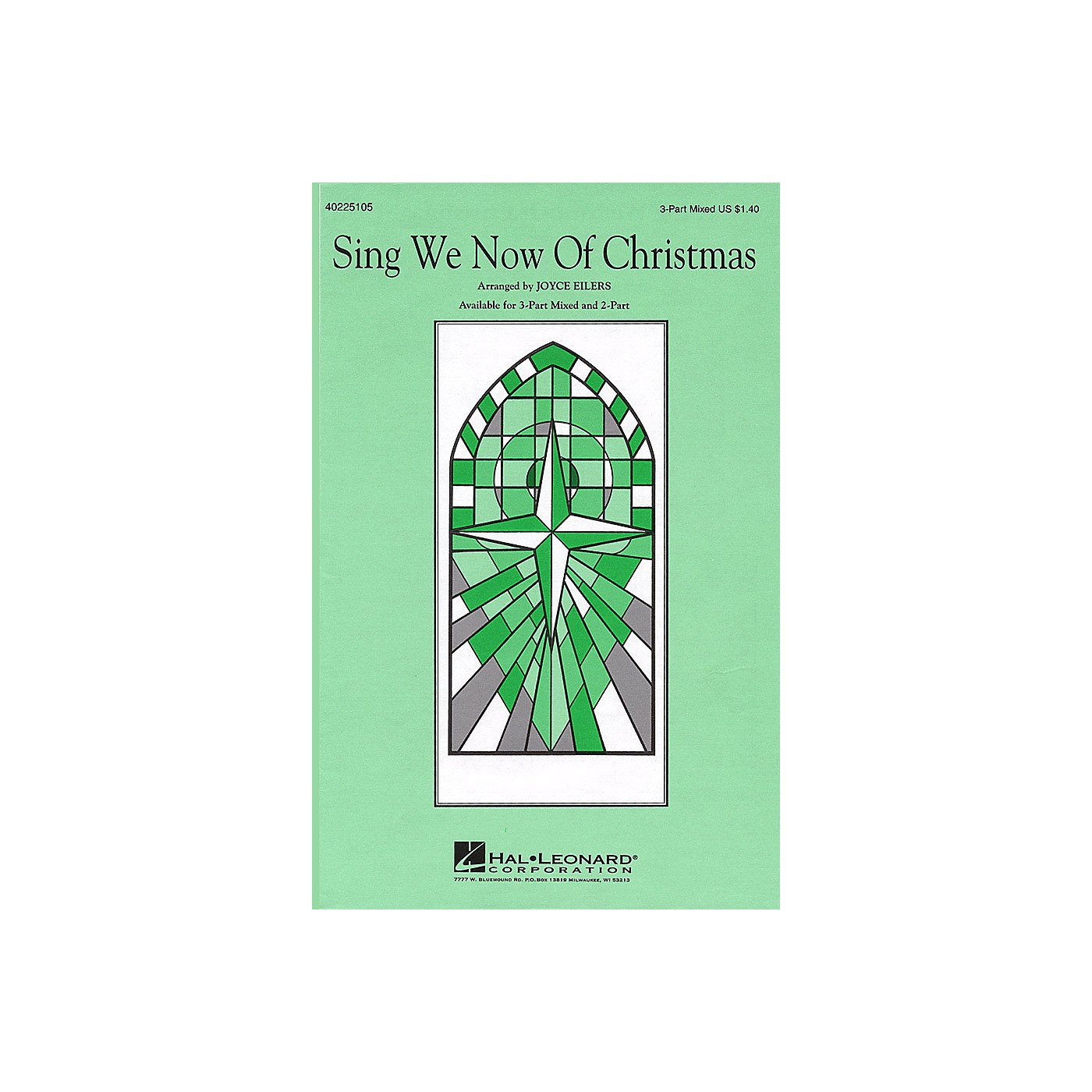Hal Leonard Sing We Now of Christmas 3-Part Mixed arranged by Joyce Eilers thumbnail