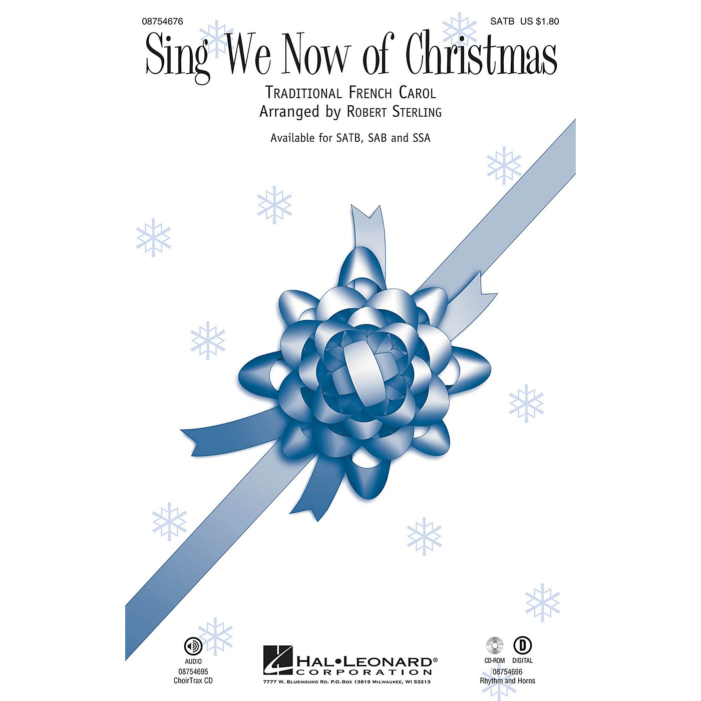 Hal Leonard Sing We Now of Christmas CHOIRTRAX CD Arranged by Robert Sterling thumbnail