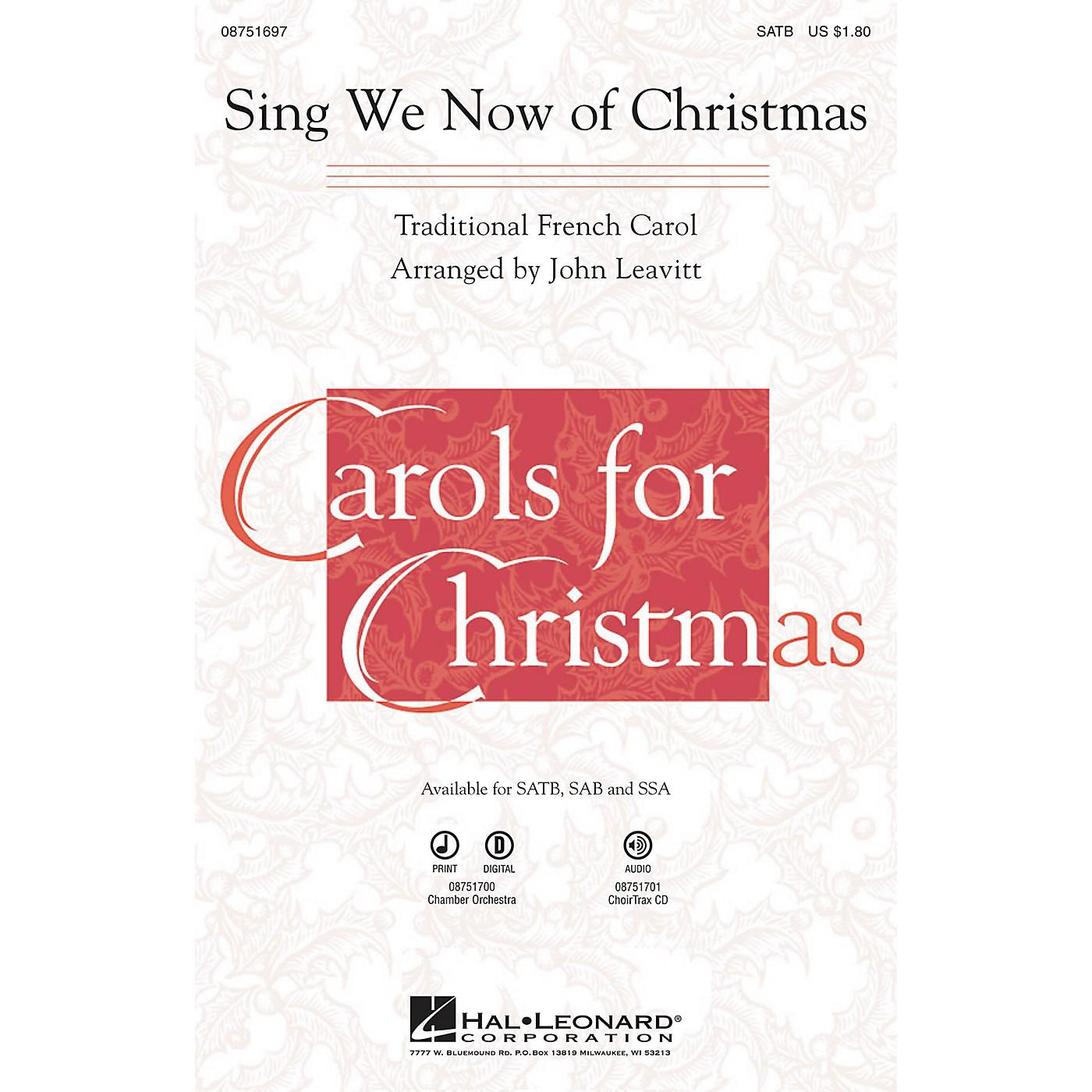 Hal Leonard Sing We Now of Christmas SATB arranged by John Leavitt thumbnail
