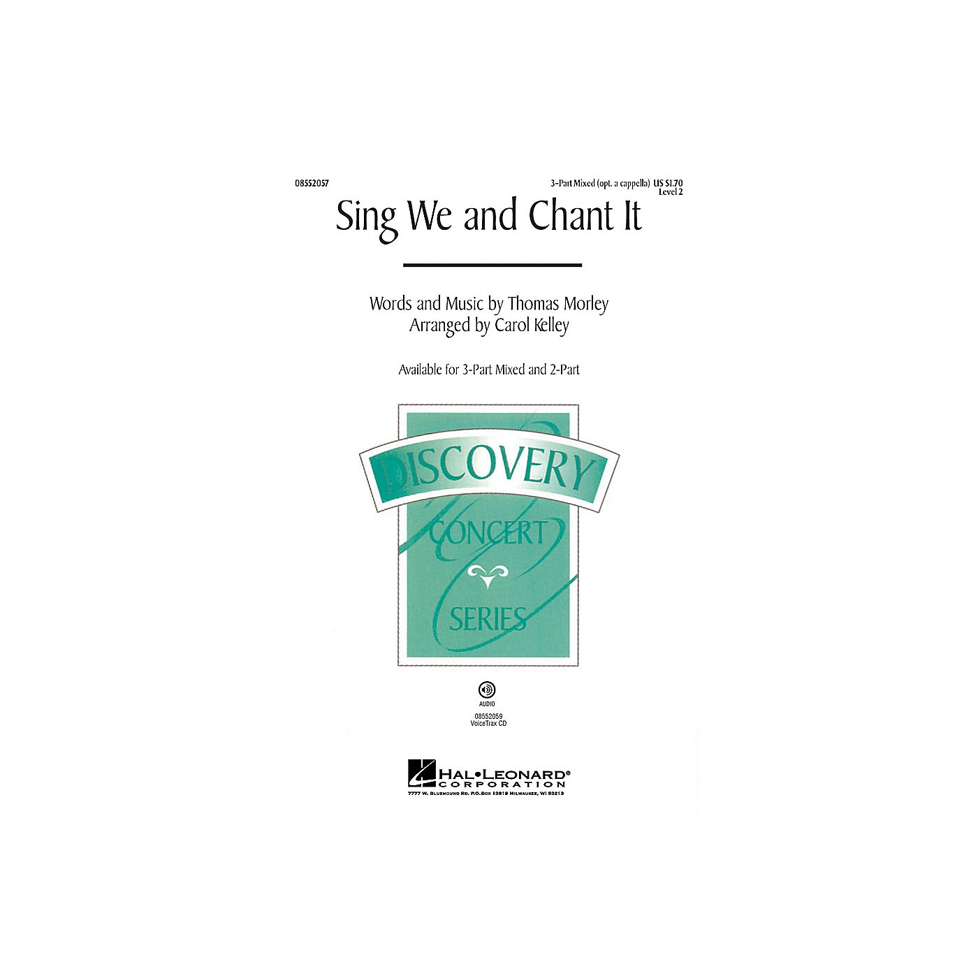 Hal Leonard Sing We and Chant It 2-Part optional a cappella Arranged by Carol Kelley thumbnail