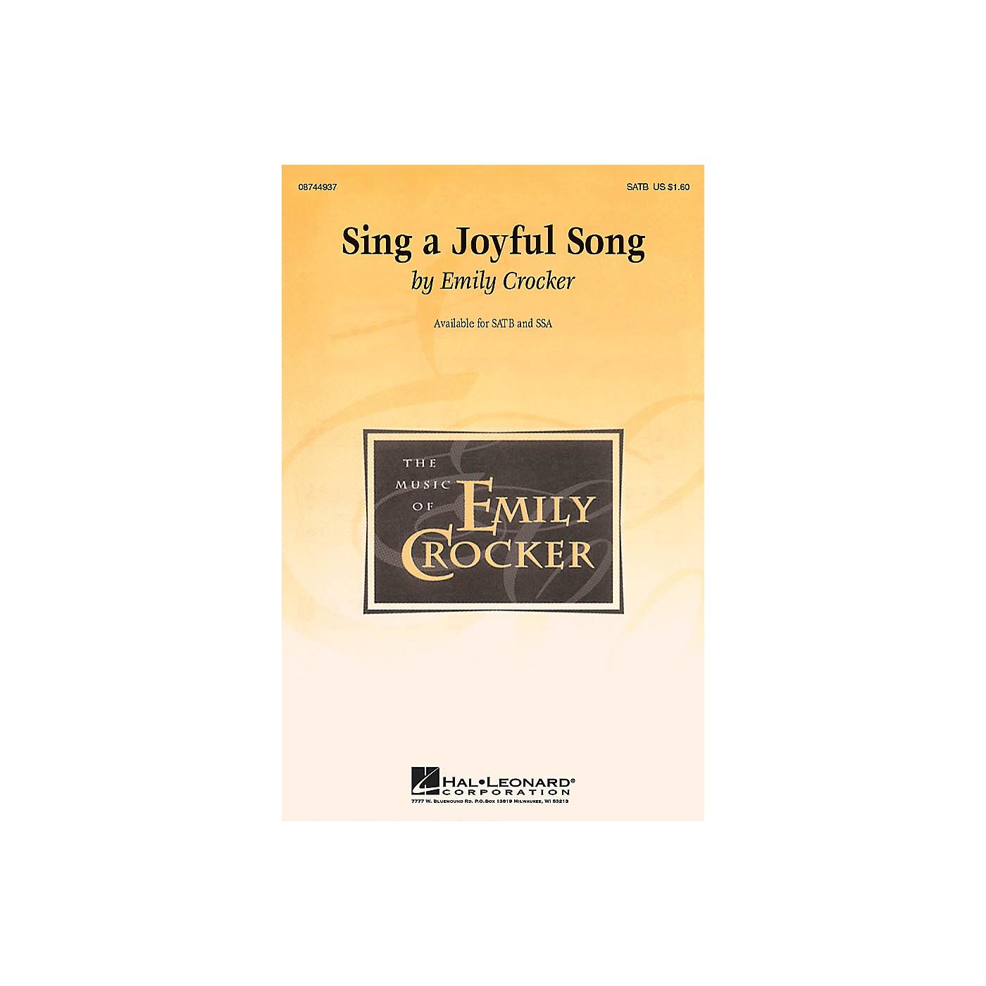 Hal Leonard Sing a Joyful Song SATB composed by Emily Crocker thumbnail