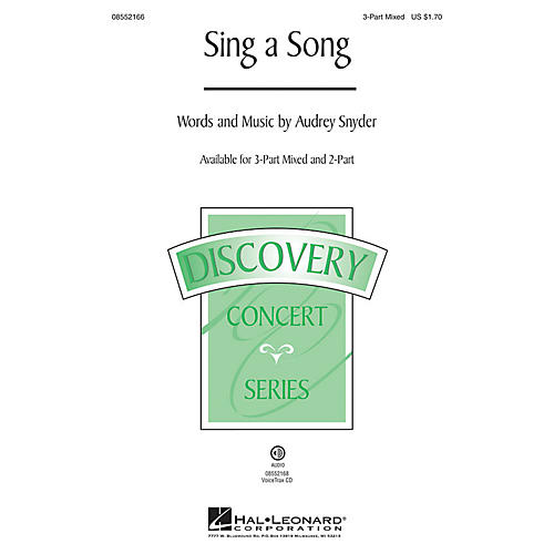 Hal Leonard Sing a Song (Discovery Level 2) VoiceTrax CD Composed by Audrey Snyder thumbnail