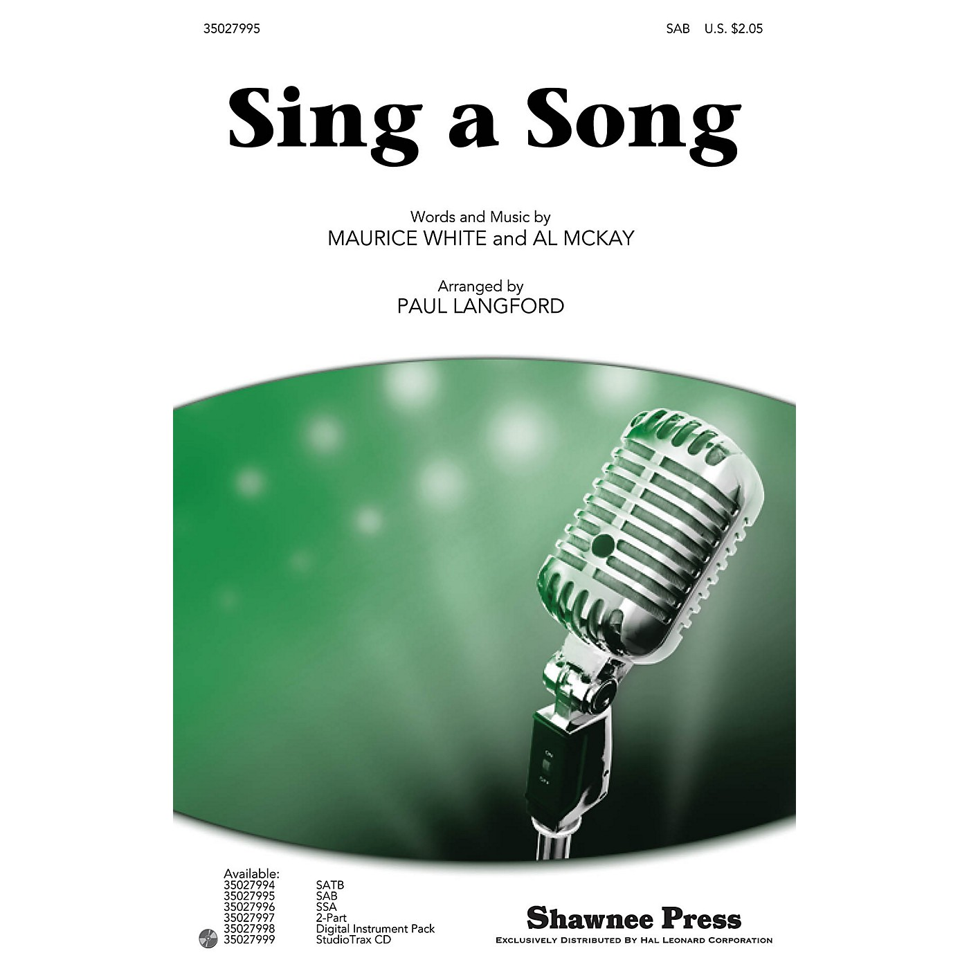 Shawnee Press Sing a Song SAB by Earth, Wind & Fire arranged by Paul Langford thumbnail