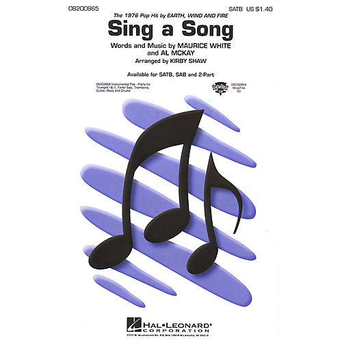 Hal Leonard Sing a Song (SATB) SATB by Earth, Wind & Fire arranged by Kirby Shaw thumbnail