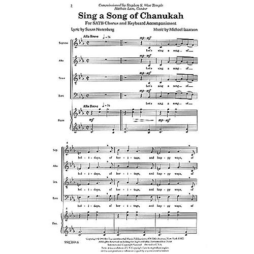 Transcontinental Music Sing a Song of Chanukah SATB composed by Michael Isaacson thumbnail