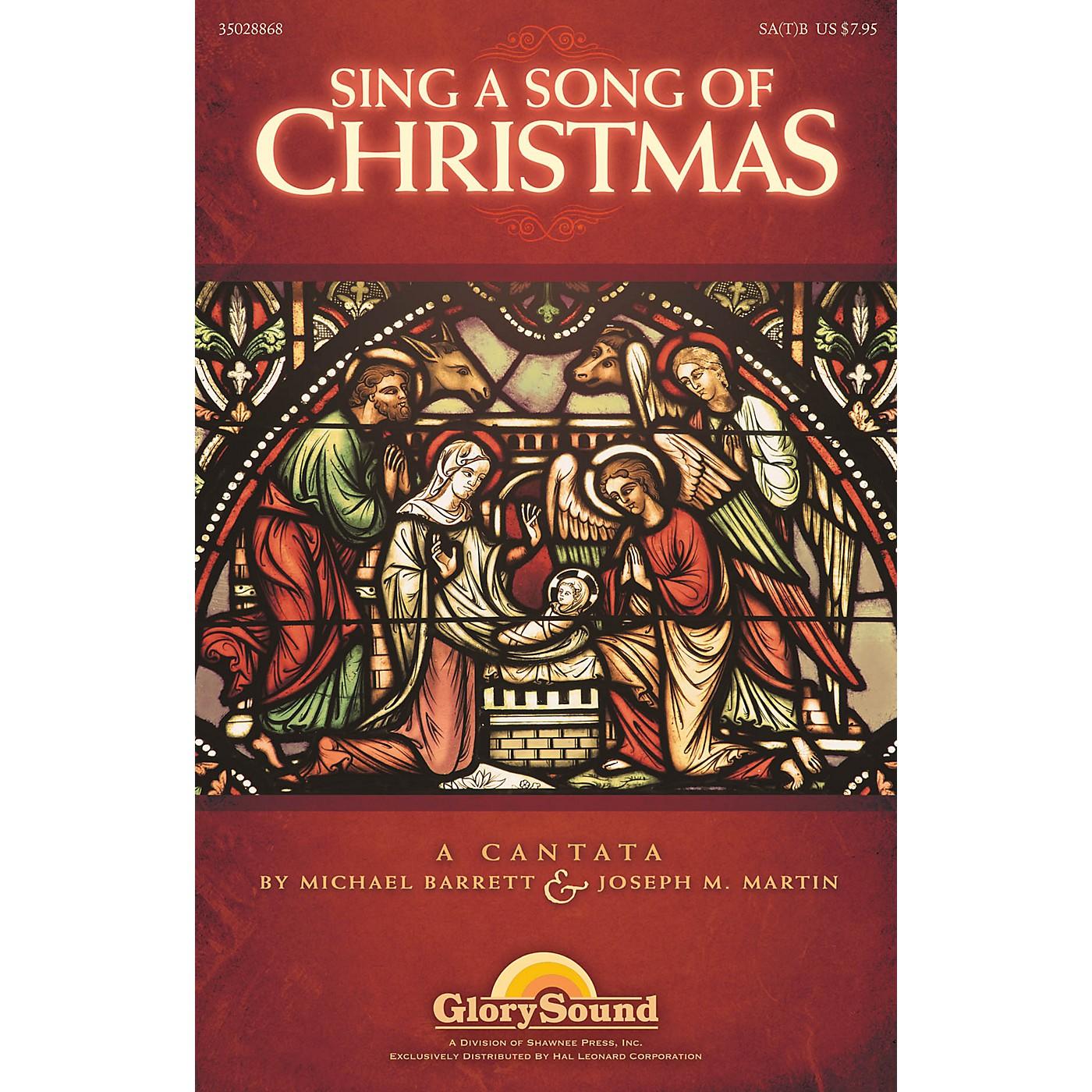 Shawnee Press Sing a Song of Christmas SPLIT TRAX Composed by Michael Barrett thumbnail