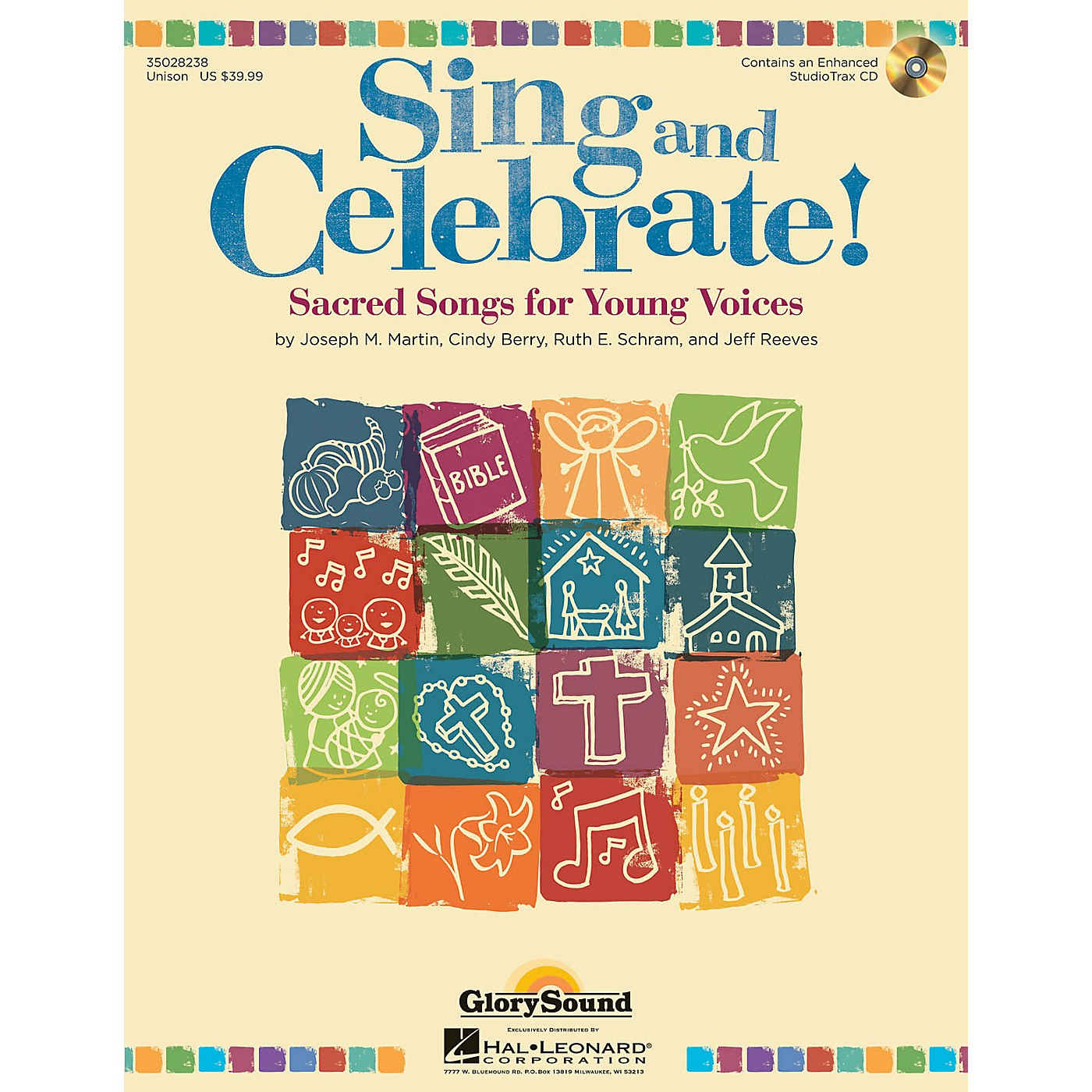 Shawnee Press Sing and Celebrate! (Sacred Songs for Young Voices) Unison Book/CD composed by Joseph M. Martin thumbnail