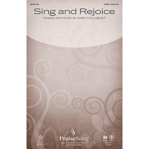 PraiseSong Sing and Rejoice CHOIRTRAX CD Composed by Gary Hallquist thumbnail