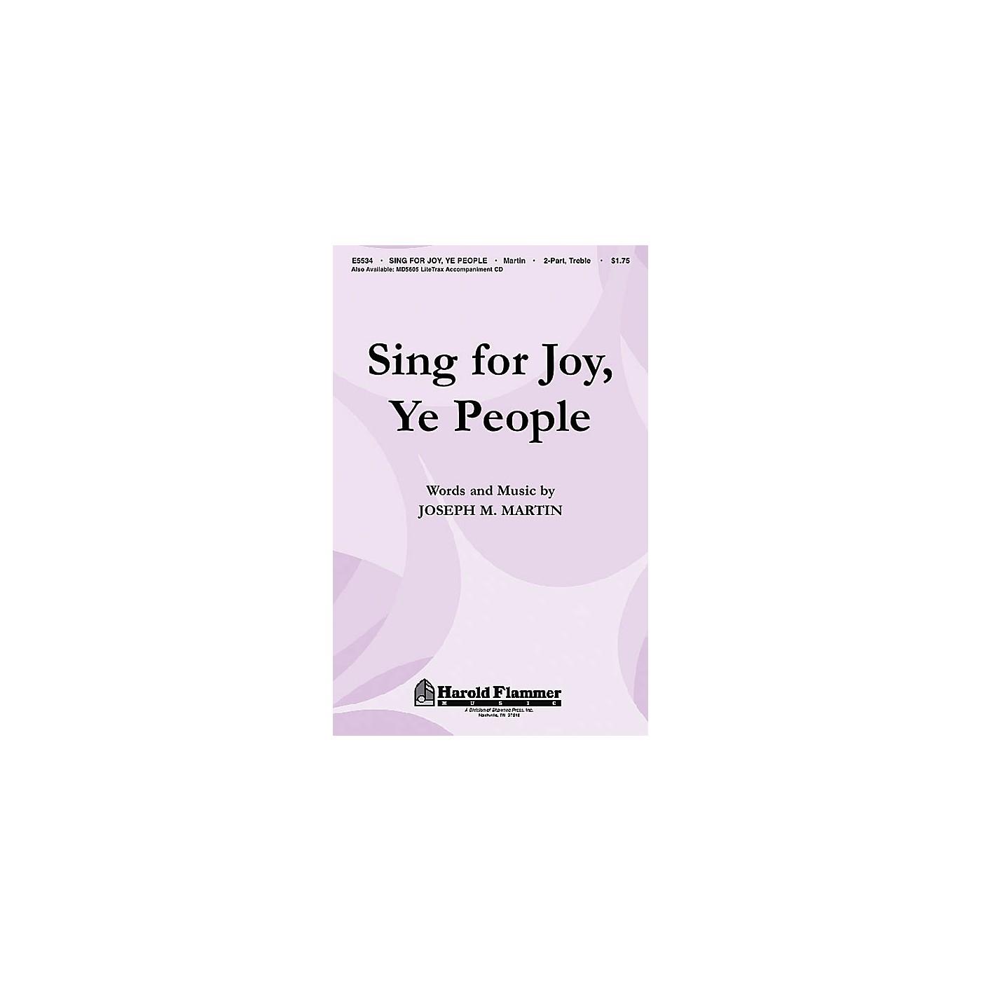 Shawnee Press Sing for Joy, Ye People 2PT TREBLE composed by Joseph M. Martin thumbnail