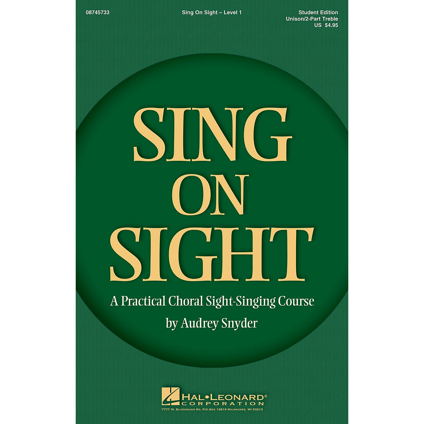 Hal Leonard Sing on Sight - A Practical Sight-Singing Course (Level 1 Treble Classroom Kit) Unison/2-Part Treble thumbnail