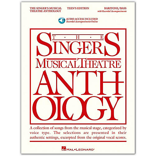Hal Leonard Singer's Musical Theatre Anthology Teen's Edition Baritone/Bass Book/Online Audio-thumbnail