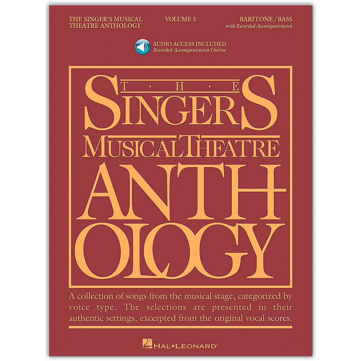 Hal Leonard Singer's Musical Theatre Anthology for Baritone / Bass Vol 5 Book/Online Audio thumbnail