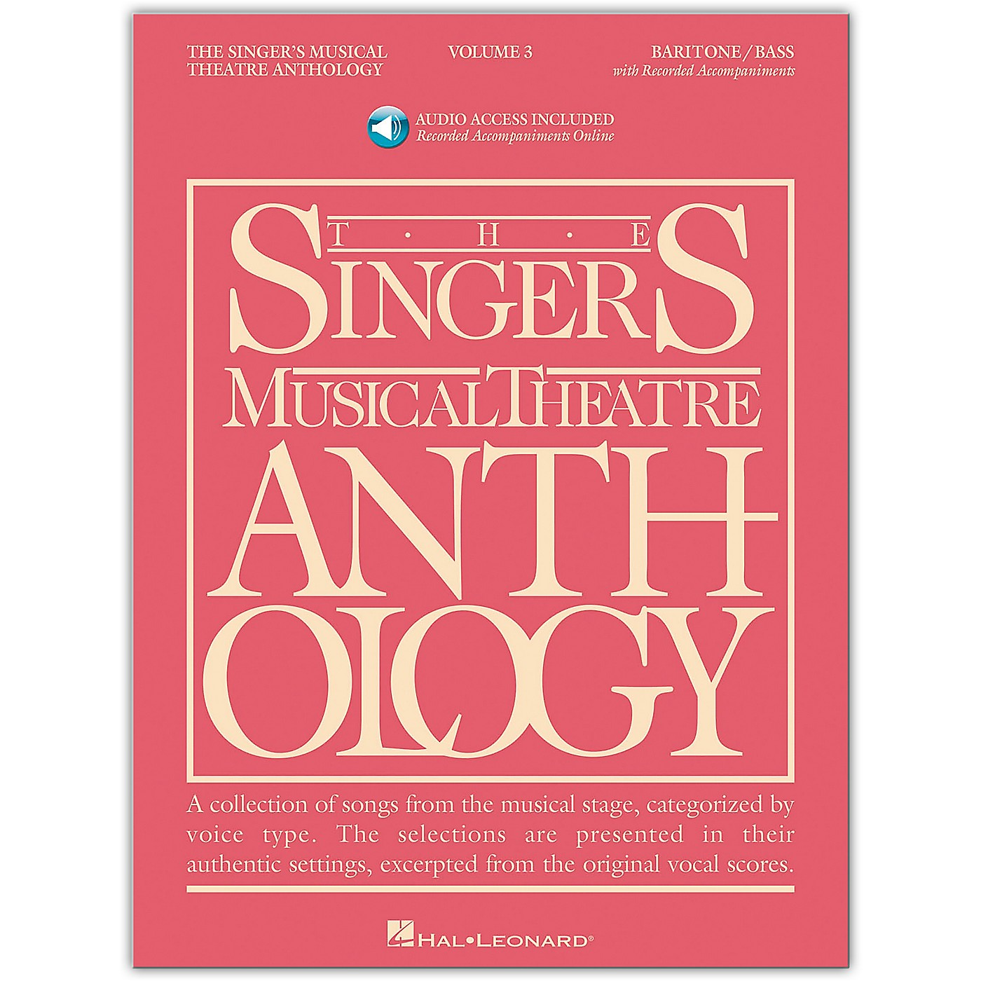 Hal Leonard Singer's Musical Theatre Anthology for Baritone / Bass Volume 3 Book/Online Audio thumbnail