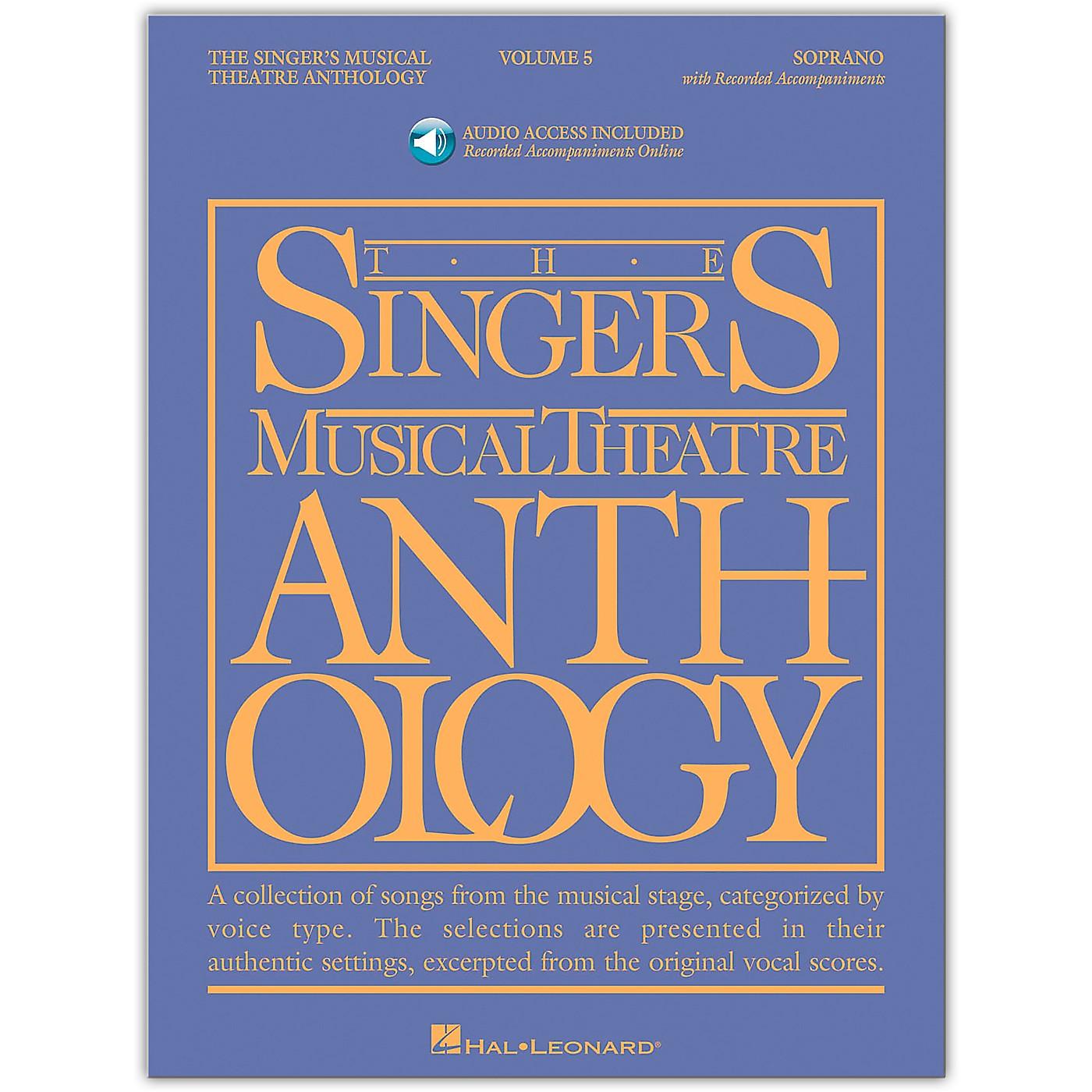 Hal Leonard Singer's Musical Theatre Anthology for Soprano Vol 5 Book/Online Audio thumbnail