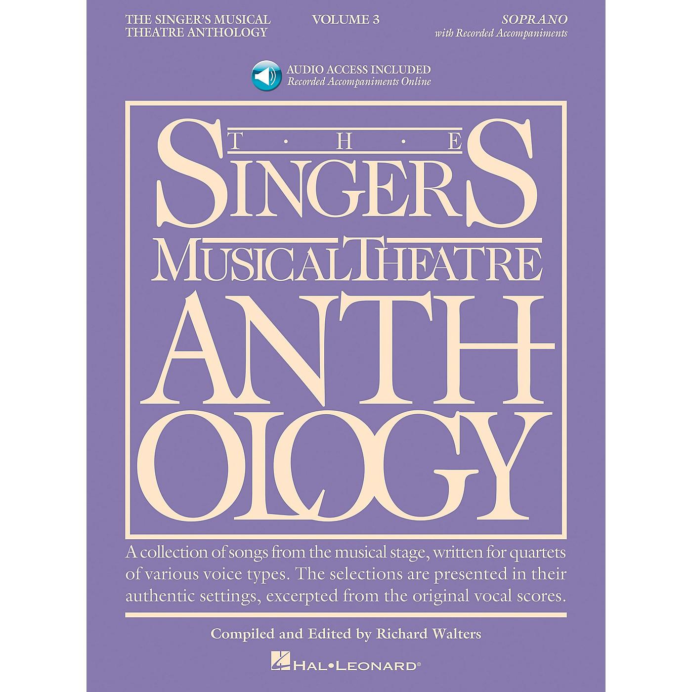 Hal Leonard Singer's Musical Theatre Anthology for Soprano Volume 3 Book/2CD's thumbnail