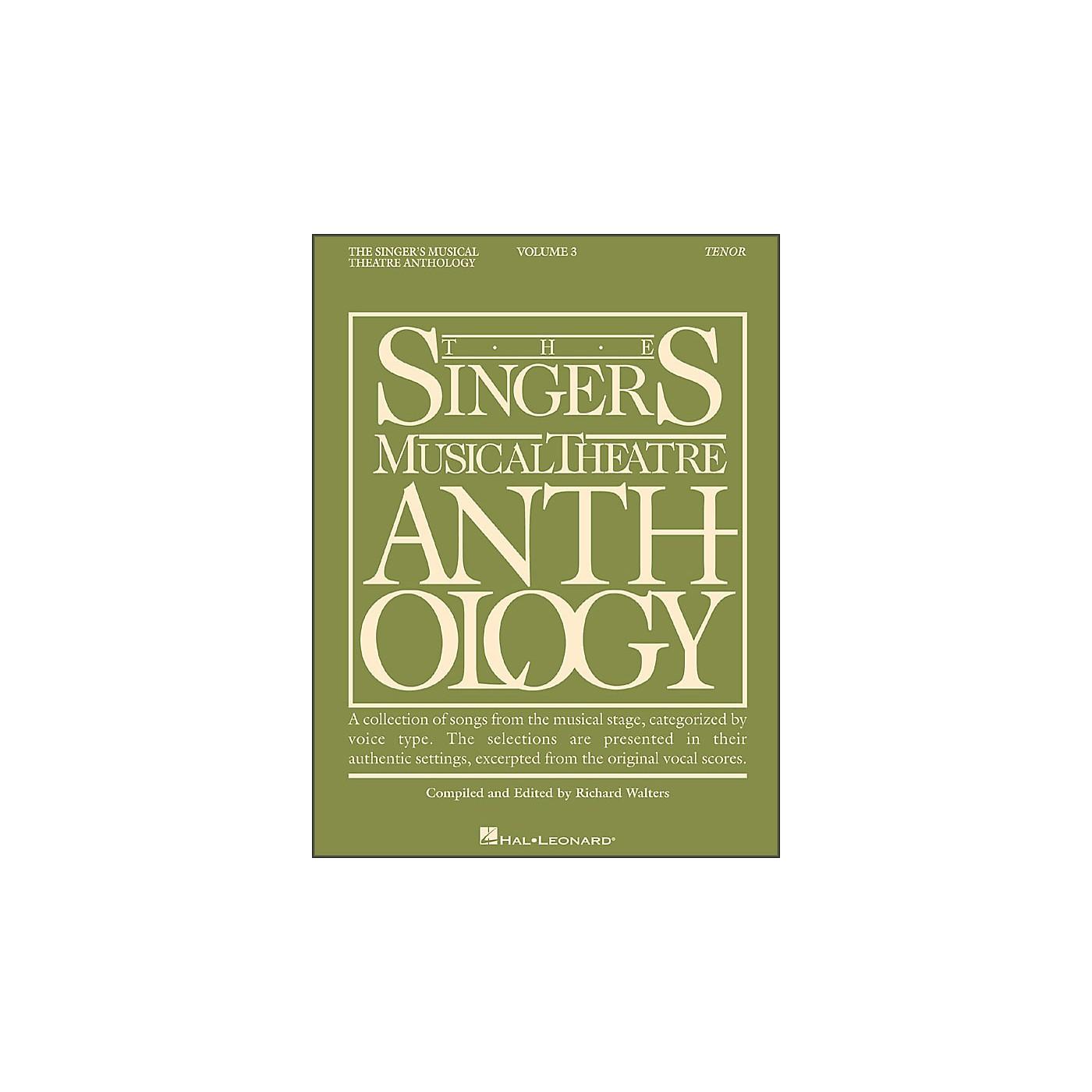 Hal Leonard Singer's Musical Theatre Anthology for Tenor Voice Volume 3 thumbnail