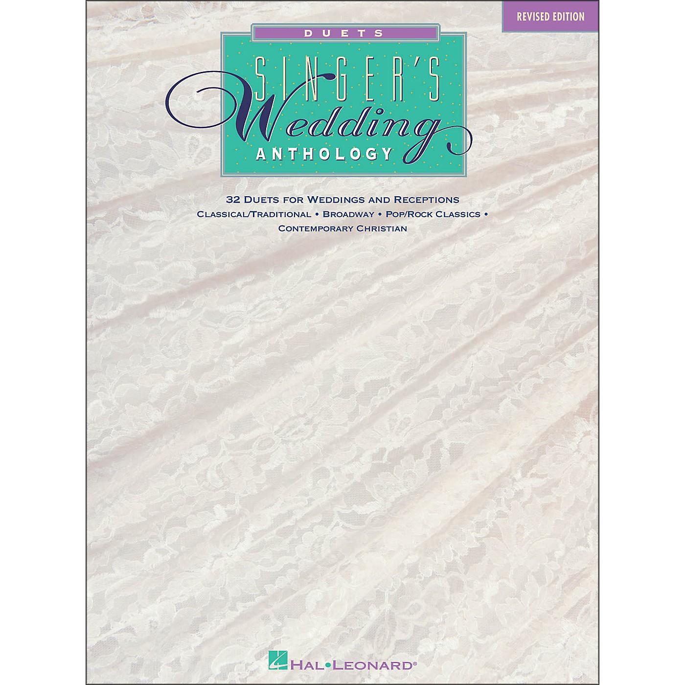 Hal Leonard Singer's Wedding Anthology Duets thumbnail