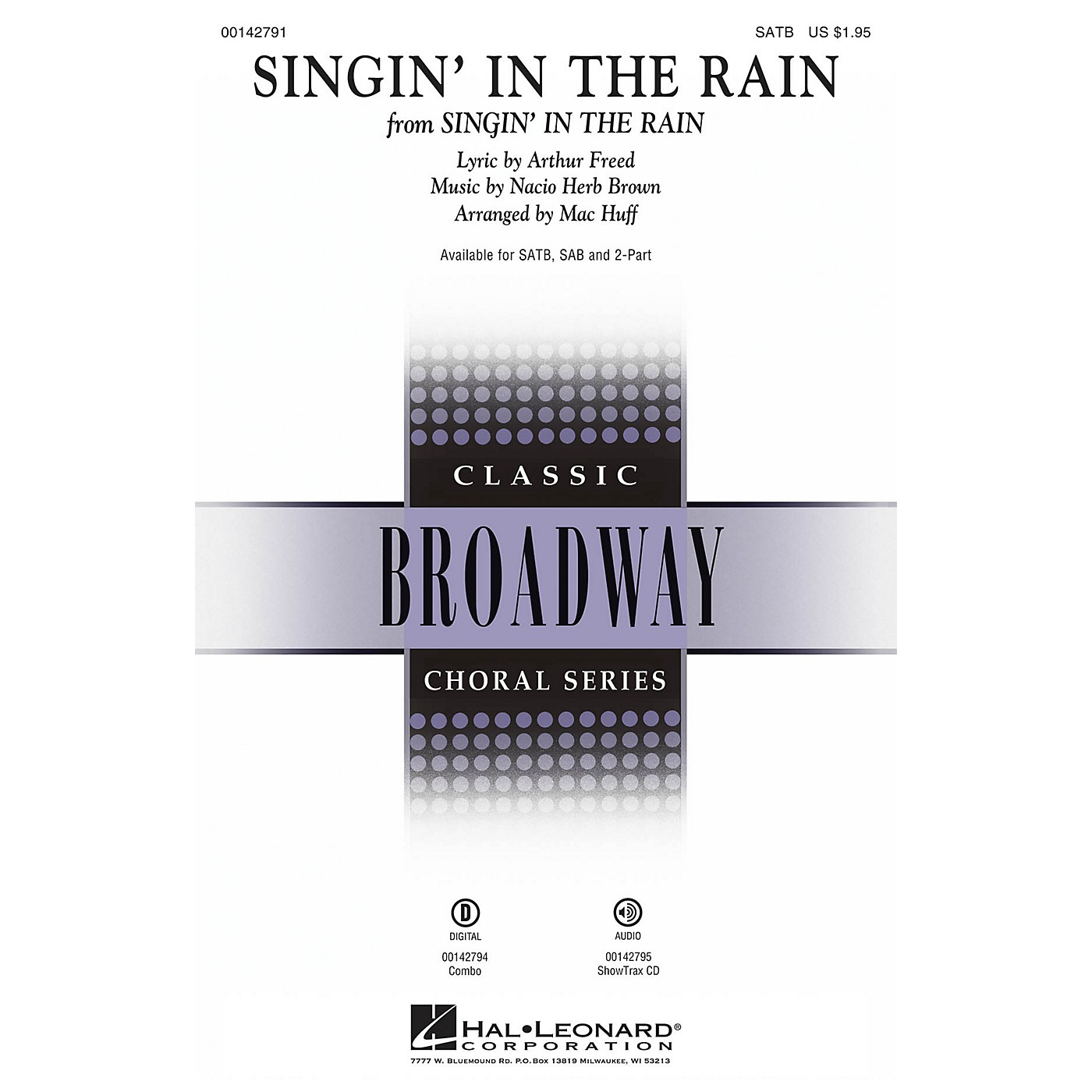 Hal Leonard Singin' in the Rain SAB Arranged by Mac Huff thumbnail