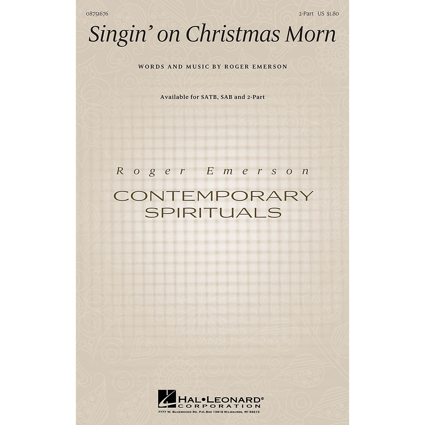 Hal Leonard Singin' on Christmas Morn 2-Part composed by Roger Emerson thumbnail
