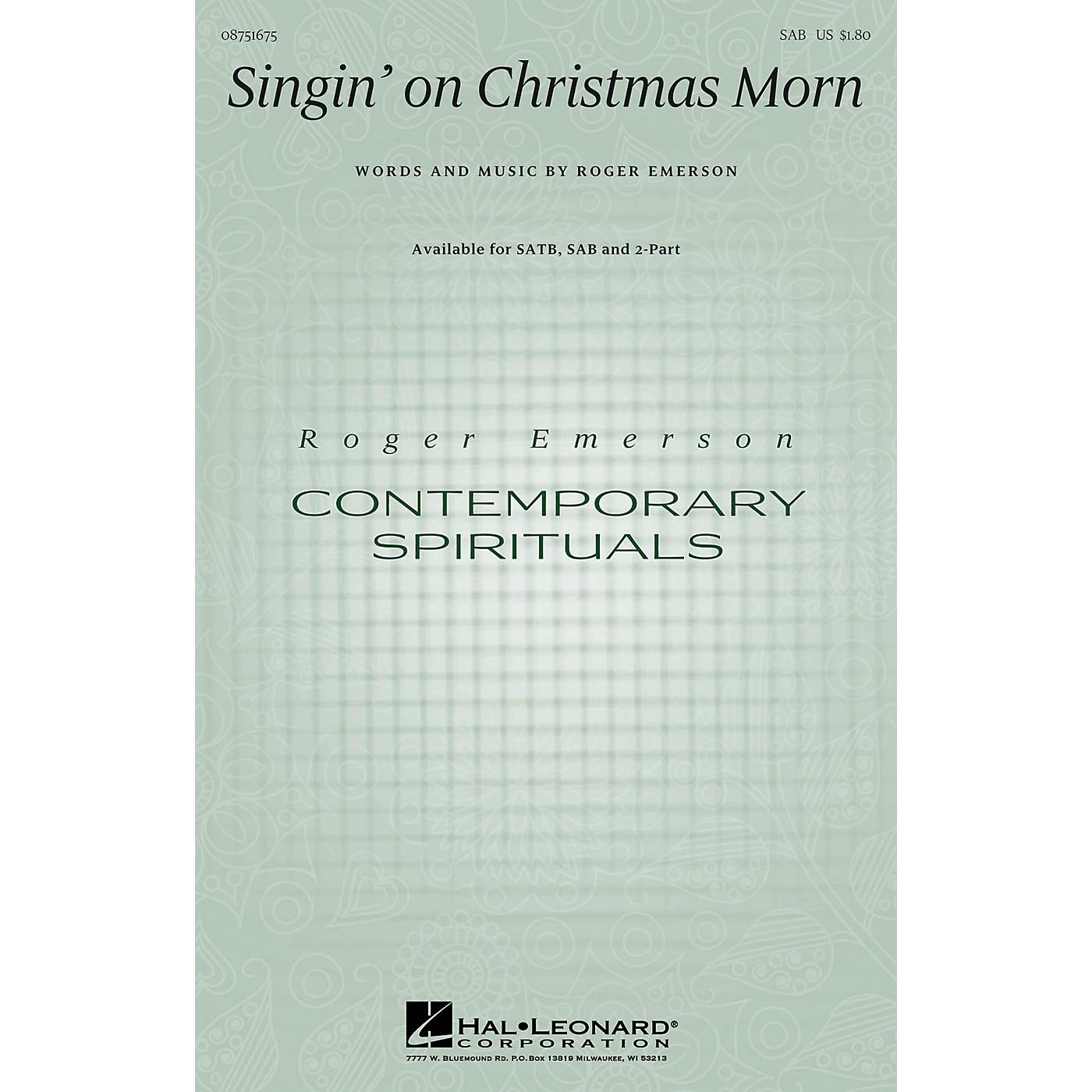 Hal Leonard Singin' on Christmas Morn SAB composed by Roger Emerson thumbnail