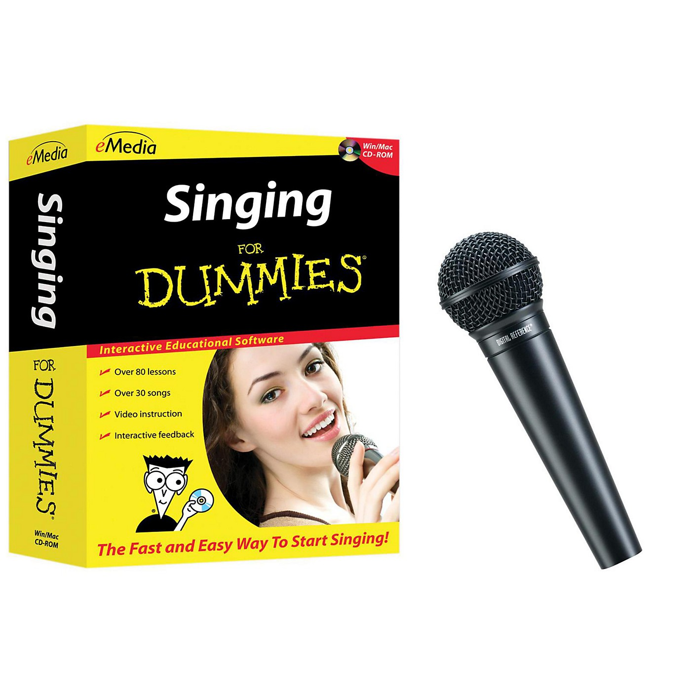 eMedia Singing for Dummies CD-ROM and Digital Reference Vocal Mic thumbnail
