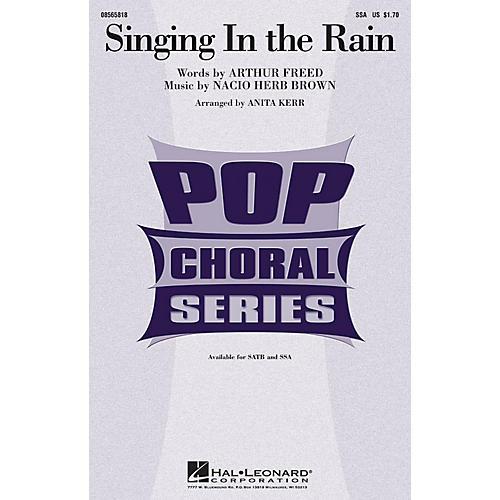 Hal Leonard Singing in the Rain SSA arranged by Anita Kerr thumbnail