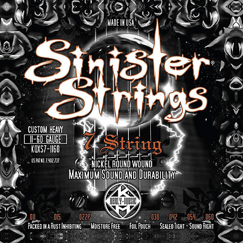 Kerly Music Sinister Strings NPS 7 String Custom Heavy Electric Guitar Strings thumbnail